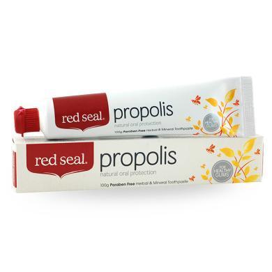 【支持購物卡】新西蘭進口Red Seal/紅印蜂膠牙膏口腔護理改善牙齦出血100g 香港直郵