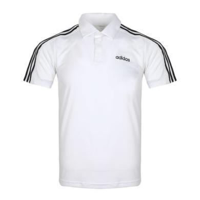 Adidas D2M 3S Polo男裝運動休閑舒適短袖POLO衫DU1258