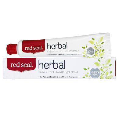 【支持購物卡】新西蘭進口Red Seal/紅印草本牙膏 溫和清新天然除口臭110g 香港直郵