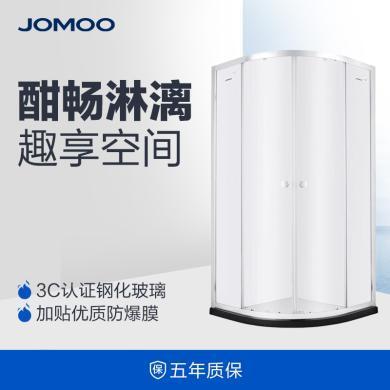 JOMOO九牧 整體浴室 鋼化玻璃淋浴房 弧形淋浴房 M312/M412