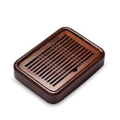 AlfunBel艾芳貝兒 茶具茶盤 功夫茶具盛水小號茶海茶臺托盤雞翅木實木茶盤(長27CM寬19CM高5CM)C-93-6