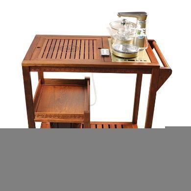 AlfunBel艾芳貝兒帶輪可移動花梨茶車茶水車茶桌套組C-80-CC-1-3(包含心好茶具B1套組)