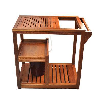 AlfunBel艾芳貝兒帶輪可移動花梨茶車茶水車茶桌套組C-80-CC-1-1(不包含茶具)