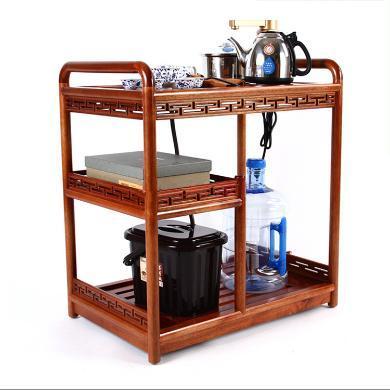 金灶KAMJOVE带轮可移动实木茶具套装整套功夫茶具多功能一体茶车茶桌套组-鸡翅木KW6300B C-80-KJ-6300B