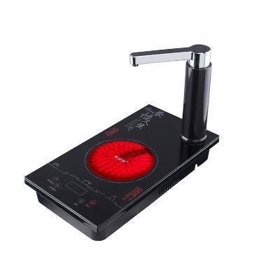 友茗堂电茶炉铁壶电陶炉茶炉嵌入式自动上水电热炉大功率煮茶电炉智能YL-2003-黑色(长37CM宽20CM)C-80-YL-2003-1