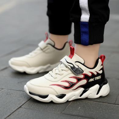 男童鞋子新款中大童运动鞋儿童皮面防滑跑步鞋 TX1255
