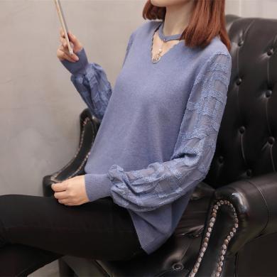 搭歌2019秋裝新款薄針織打底衫顯瘦洋氣毛衣大碼女裝B4779