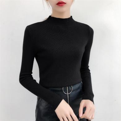 搭歌2019秋冬新款半高領針織衫打底衫毛衣上衣線衣女 B4347
