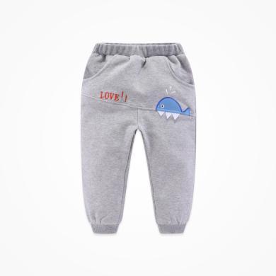 丑丑婴幼 秋冬男宝宝卡通保暖长裤新款男童针织加厚长裤