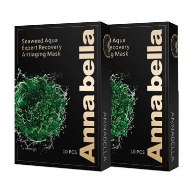2盒*泰國 安娜貝拉 Annabella  黑金海藻面膜 10片/盒