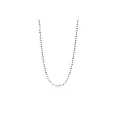 【支持購物卡】Tiffany & Co./蒂芙尼簡約銀色串珠項鏈 22652044 鏈長61cm 22652044