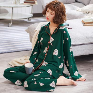 摩登孕媽 春秋新款女裝孕婦睡衣產后月子服可外穿家居服套裝薄款喂奶套褲
