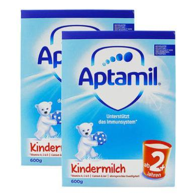 【2盒】德国Aptamil爱他美奶粉2+段(24个月以上宝宝) 600g/盒