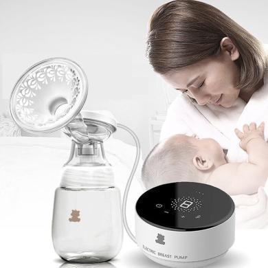 小白熊吸奶器電動集奶器擠奶器接奶器吸乳器吸奶神器自動吸奶器大吸力無痛單邊拔奶器HL-0882L升級款