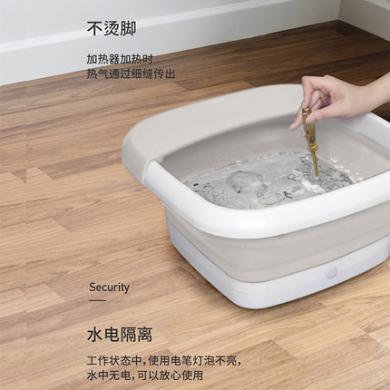 nathome北歐歐慕可折疊足浴盆全自動按摩加熱家用電動恒溫足浴器