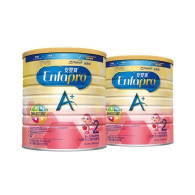2罐*港版 美赞臣 MeadJohnson  奶粉 2段 6-12个月 900g/罐