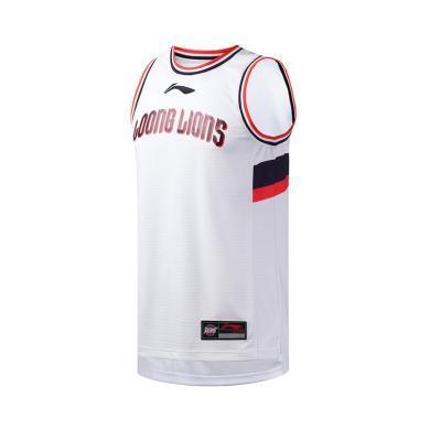 李寧籃球比賽服男士2019新款籃球系列CBA聯賽比賽服男裝運動上衣AAYP429