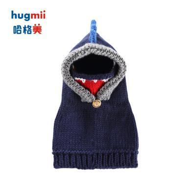 兒童冬季動物造型披肩帽子組合hugmii/哈格美