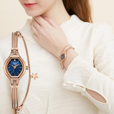 聚利時手表女小表盤鏈帶女表小巧腕表時尚潮流防水石英表JA-1057