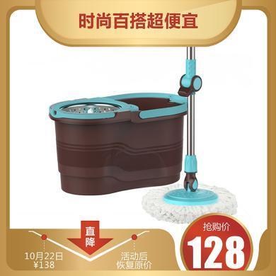 旋转拖把桶套装好神拖液压伸缩杆懒人免手洗干湿?#25509;?#26825;头拖布