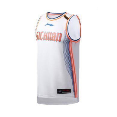 李寧籃球比賽服男士2019新品四川隊CBA籃球系列比賽服運動上衣AAYP441
