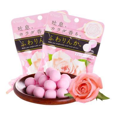 【滿199減100】日本進口Kracie嘉娜寶玫瑰花味香體糖1包32g 網紅約會持久接吻糖果