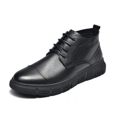 富貴鳥男靴青年休閑馬丁靴男休閑皮靴男士短靴加絨 D984044C