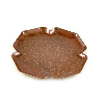 AlfunBel艾芳貝兒茶具 日式紫銅打制紫砂壺壺承 干泡盤茶盤茶道茶杯托盤 敬茶盤-櫻花C-94-10-5-2(長14CM寬14CM)