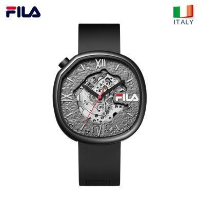 FILA斐樂明星同款手表男女時尚鏤空運動潮流大表盤機械腕表307