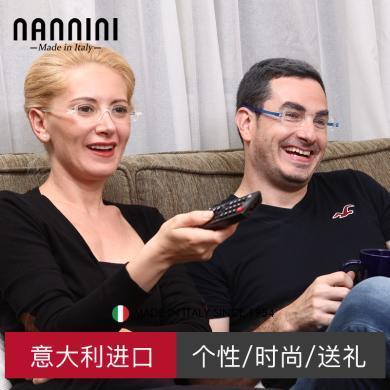【支持购物卡】意大利NANNINI纳尼尼眼镜 进口高清舒适 折叠老花镜 防疲劳TR90 老人老光眼 多度数可选  CP1