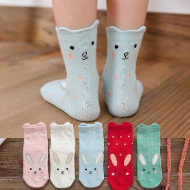 ocsco (5双装)儿童袜子冬季新款加厚男童袜子中?#39184;?#20799;童地板袜婴儿袜女童袜子