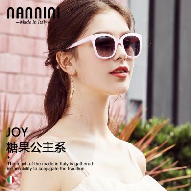 【支持购物卡】意大利NANNINI纳尼尼眼镜 时尚女士太阳镜墨镜开车偏光镜防紫外线眼镜ine复古风时尚JOY