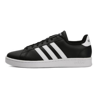 阿迪達斯NEO2019春季男鞋運動鞋黑色休閑板鞋 F36393