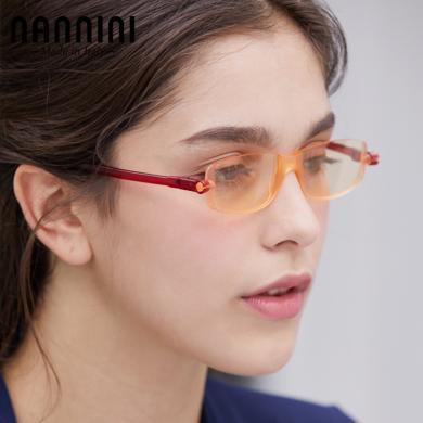 【支持购物卡】意大利NANNINI纳尼尼眼镜 防辐射抗?#35910;??#20449;?#36866;用眼镜 进口电脑护目镜 平面平光电脑眼镜    C2A