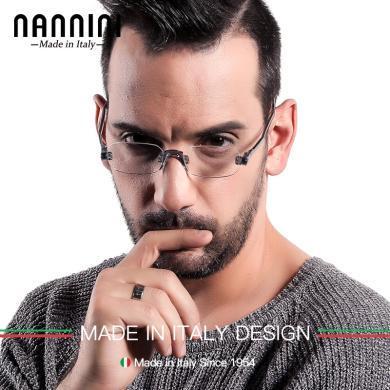 【支持购物卡】意大利NANNINI纳尼尼眼镜 防蓝光 防辐射 电脑老花镜 旋转折叠  多度数可选NF507