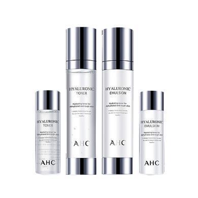 【支持購物卡】韓國AHC 透明質酸系列玻尿酸深層保濕神仙水水乳套裝盒