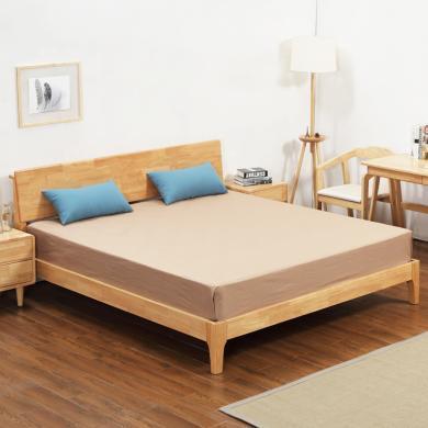 北欧床 橡木家具儿童1.2单人1.5公主1.8米床头大双人 全实木床
