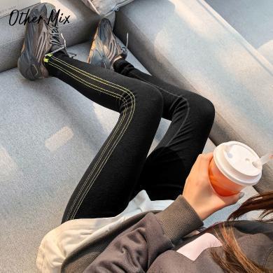 七格格冬季打底褲2019新款黑色外穿顯瘦學生百搭洋氣時尚小腳褲子