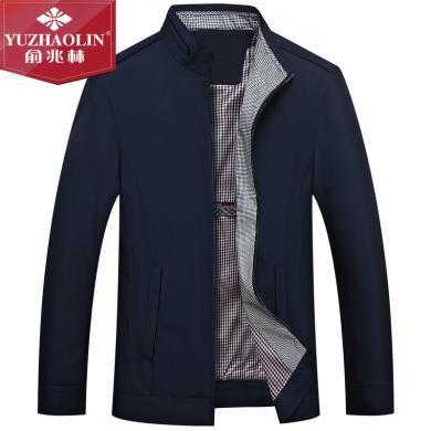 俞兆林爸爸外套春秋季中年夾克男裝休閑夾克衫男40中老年人50歲衣服夾克老年夾克外套休閑夾克外套老年外套夾克男裝夾克外套  YZL301
