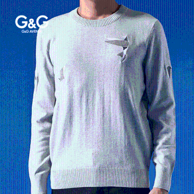 G&G男士秋裝2019年新款上衣韓版百搭套頭毛衣休閑圓領帥氣打底衫