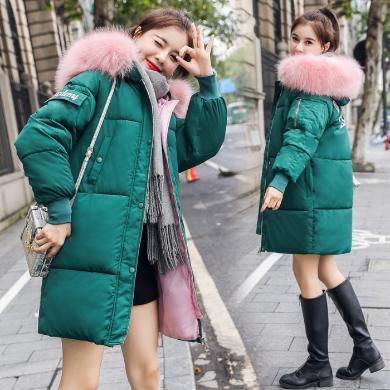搭歌2019新款冬季韩版中长款宽松棉衣面包服东大门棉服潮羽绒棉服女 B3881