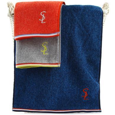 三利 純棉色織AB紗彩邊大浴巾 70×140cm 柔軟舒適洗澡巾 強吸水裹身巾 385克