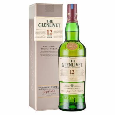 帶二維碼 格蘭威特(Glenlivet)單一麥芽威士忌 原瓶進口洋酒 PRC 格蘭威特12年陳釀 700ml