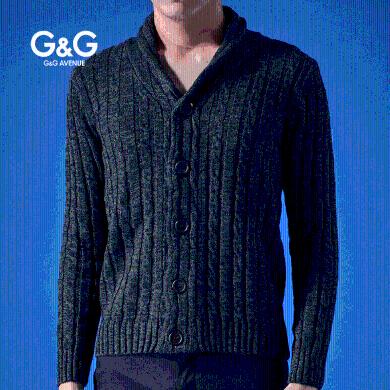 G&G外套男秋季男士針織衫2019秋冬新款韓版潮流百搭外穿開衫毛衣