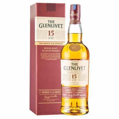 格蘭威特(Glenlivet)單一麥芽威士忌 原瓶進口洋酒 PRC 格蘭威特15年 700ml