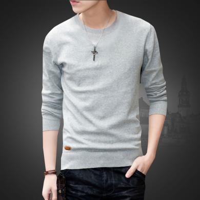 希際2019新款男士毛衣韓版潮流個性純棉高領冬季厚款線衣服打底針織衫MY-XH0265