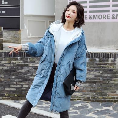 搭歌2019冬季韓國東大門羽絨棉服女中長款網紅學生bf棉衣女 B3876
