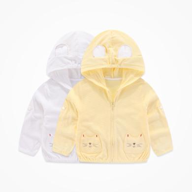 丑丑嬰幼 男女寶寶卡通長袖連帽外套四季新款男女童空調防蚊衫 CNE655X