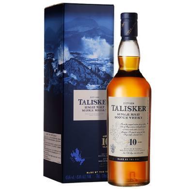 泰斯卡 Talisker10年 洋酒 苏格兰单一麦芽威士忌 700ml 单瓶装 正品保证