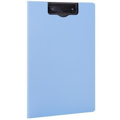 得力5016豎式折頁板夾(藍)